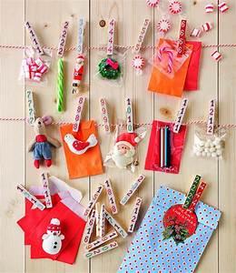 Fabriquer Un Calendrier De L Avent : fabriquer un calendrier de l 39 avent avec des pinces linge ~ Nature-et-papiers.com Idées de Décoration