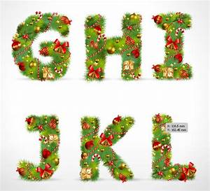 christmas ornaments composed of letters 02 vector free With noel letters for christmas