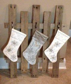Rustic stocking hanger made out of an old pallet with star