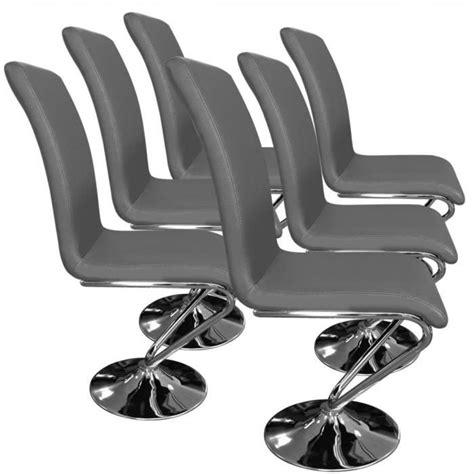 lot de 6 chaises grises lot de 6 chaises colami gris achat vente chaise salle a