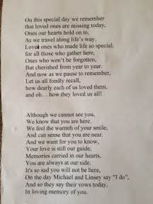 remembrance poem read     sons wedding