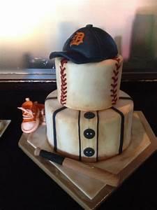 baseball themed shower cake cakecentral