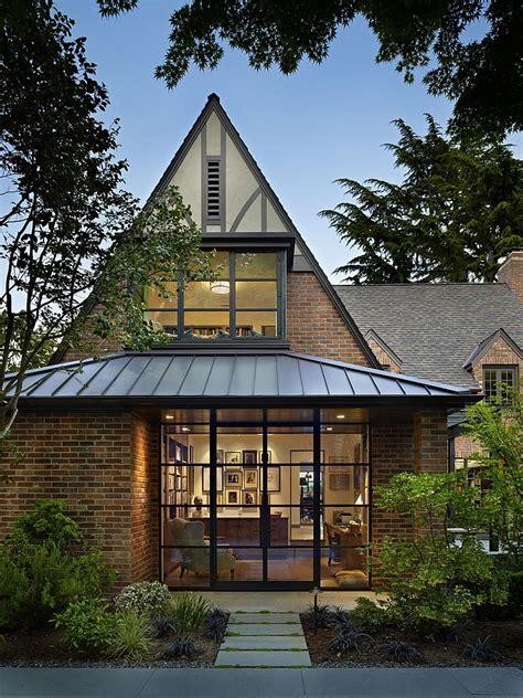 classic seattle lakefront house   bookish modern twist