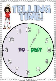 telling time poster freebie  images math school