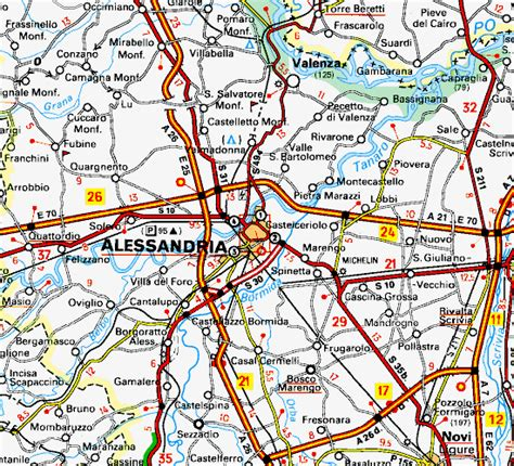 MAP OF ALESSANDRIA, PIEDMONT - ITALY