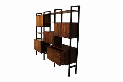 Divider Modern Mid Century Bookcase Desk Hutch