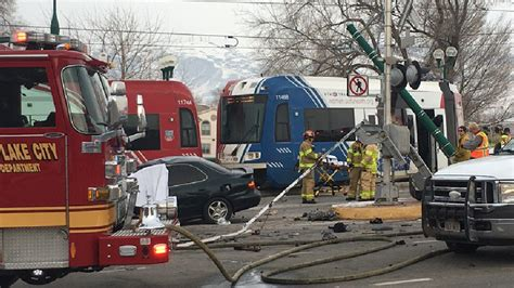 Ogden Man Dead After Car Crashes Into Moving Trax Train In
