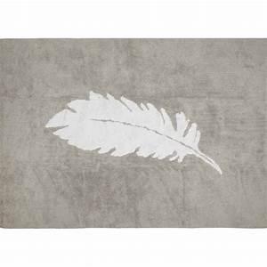 Tapis Gris Blanc : tapis forme plume au design romantique aratextil ~ Teatrodelosmanantiales.com Idées de Décoration