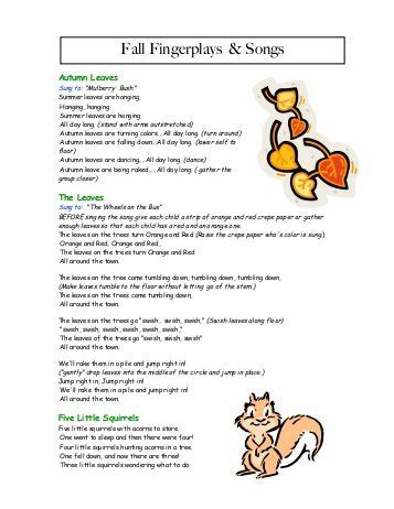 fingerplays fall preschool 723 | fall fingerplays songs