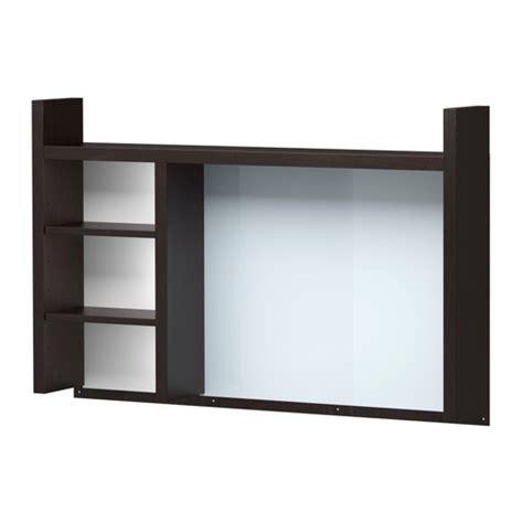 desk add on shelf micke add on unit high black brown ikea