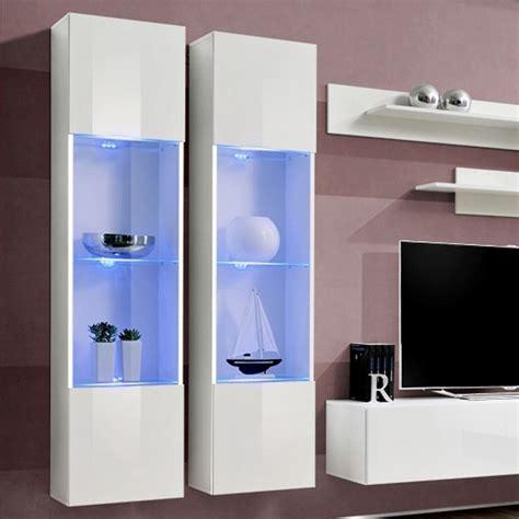 meuble tv mural design quot fly iii quot 310cm blanc