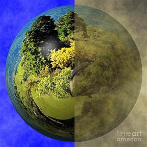 Clean Earth Versus Polluted Earth Photograph by Yali Shi