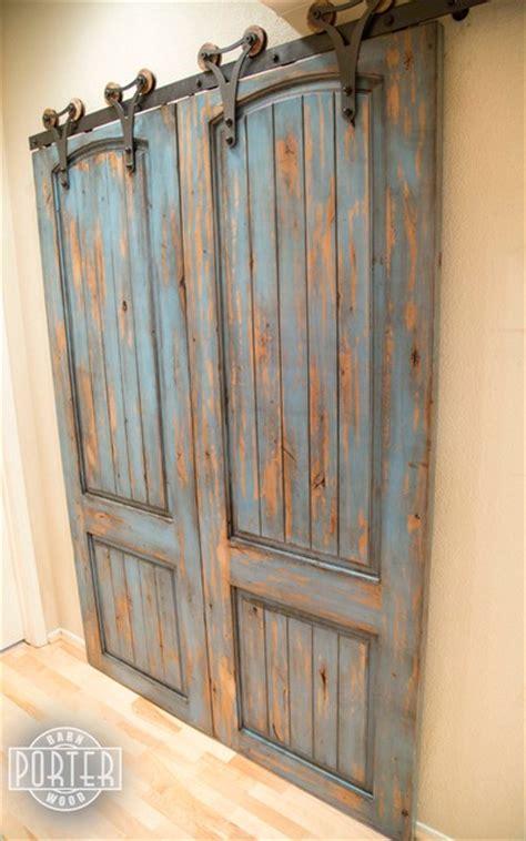 distressed barn door sliding paneled door distressed ignite finish rustic