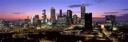 Atlanta Skyline Night Georgia Cityscape Skylines Ga
