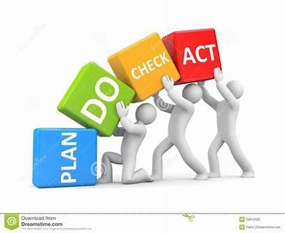 Plan Act Check Business Metaphor Concept