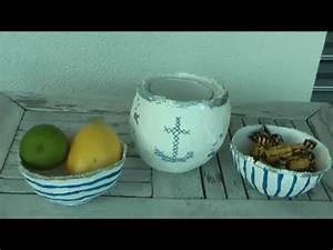 Mit Gips Basteln : diy maritime schalen windlichter aus gips basteln youtube ~ Lizthompson.info Haus und Dekorationen