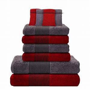 Handtücher Set Grau : 10 tlg handtuch set 2 duscht cher badet cher 4 handt cher 4 waschhandschuhe ebay ~ Indierocktalk.com Haus und Dekorationen