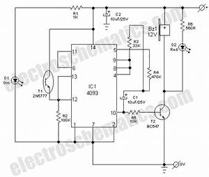 light fence security alarm circuit schematic With circuit and this can be use as to make a electric fence circuit is a
