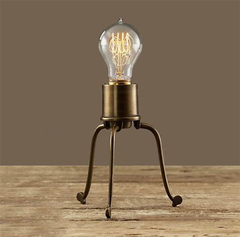 edison bulb desk l antique copper and edison bulb table l contemporary