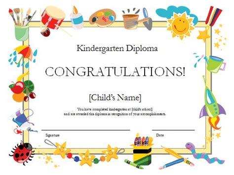 kindergarten diploma certificate templates officecom