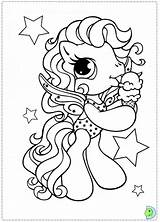 Coloring Pony Algae Dinokids Pages Template Close sketch template