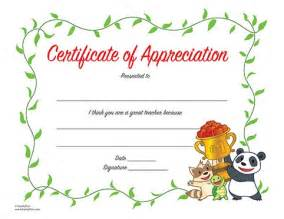 Teacher Appreciation Certificates Printable
