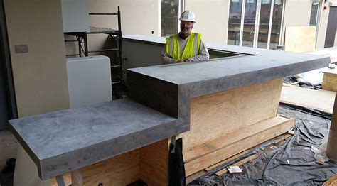 building a kitchen island with cabinets commercial projects concrete planters