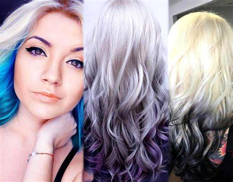 10 Best White Ombré Hairstyle Ideas For Hair Extensions