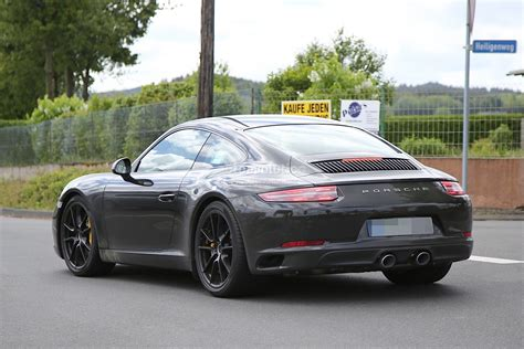new porsche 911 new porsche 911 facelift spied on the nurburgring and in