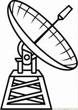 Coloring Satellite Astronomy Telescope Radio Printable Space Technology Satelite Hubble Dibujo Drawing Supercoloring Coloringpages101 Popular Google Clipart Categories Silhouettes sketch template