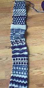 slip stitches knitting of a different stripe interweave