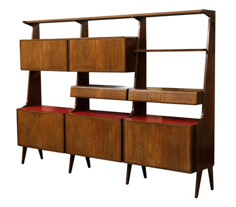 italian mid century modern rosewood bookcase special