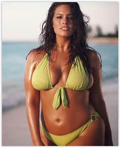 Graham Ashley Curvy Bikini Modelo Woman Sports
