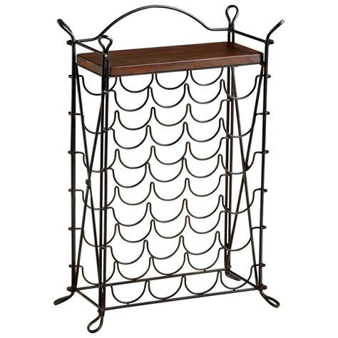 cassina wrought iron looped feet raw steel iron wine rack