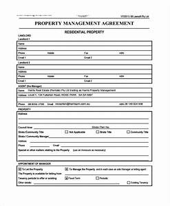 Business agreement form template for Property management documents forms
