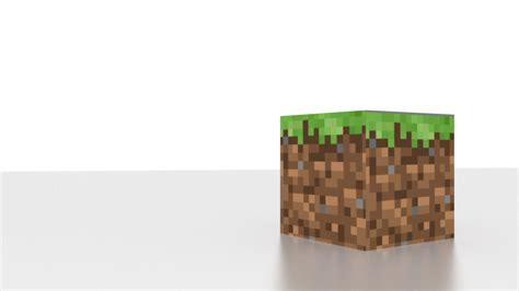 Minecraft Grass Block Wallpaper Minecraft Grass Block With Blender Cycles By Joshuzzz On Deviantart