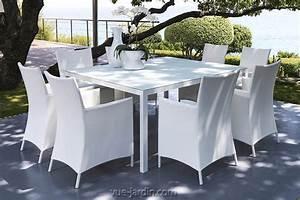 Table Carrée De Jardin : table de jardin carr e 155x155cm aluminium et verre tremp touch de talenti ~ Melissatoandfro.com Idées de Décoration