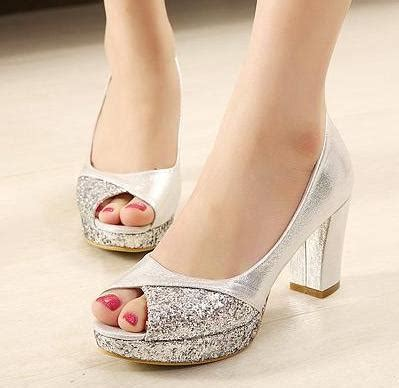 wedding peep toe wedges