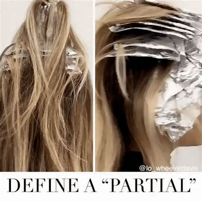 Partial Highlights Head Foils Half Difference Blonde