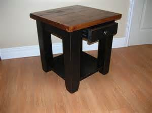 Pine End Tables with Drawers