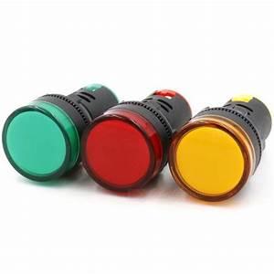 Indicador luminoso de ahorro de energía RXDZ AD16 22D / S 24V 20ma LED verde / amarillo / rojo