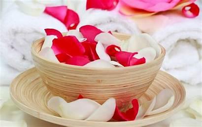 Spa Rose Petals Towels Center Oil Wallpapers