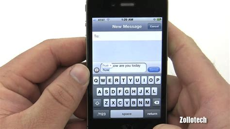 iphone text iphone 4 texting overview