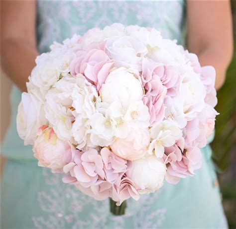 blush pink hydrangeas peonies and roses bouquet bundle