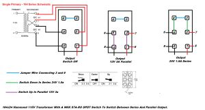 Dpdt Toggle Switch Transformer Output From