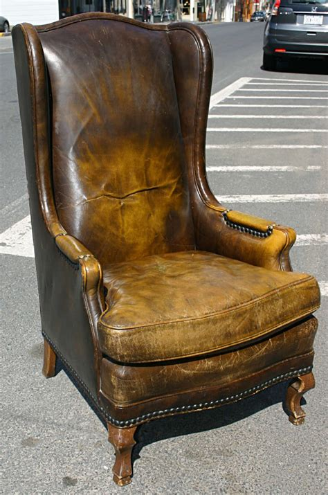 wing chair item number high leather wingback chair at 1stdibs