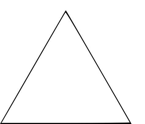 chaussure cuisine coloriage triangle à imprimer