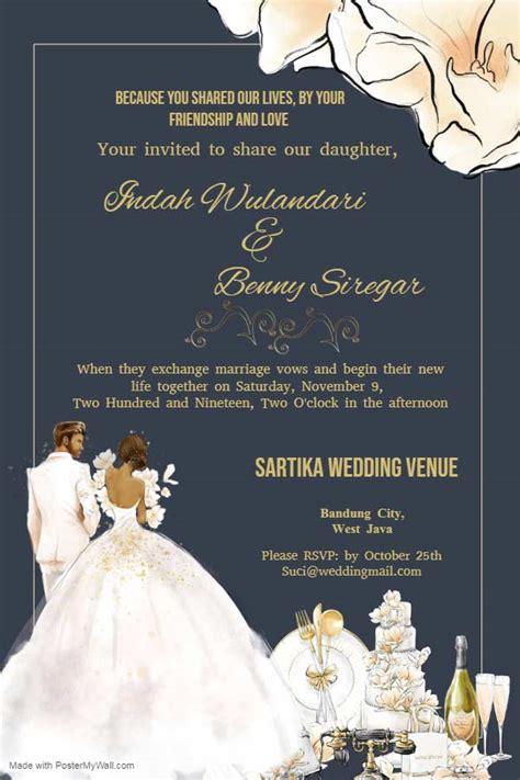 contoh undangan pernikahan bahasa inggris  artinya
