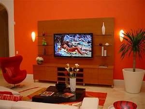 Decoration Mur Interieur Salon : une d co de salon avec du temp rament chaud en rouge ~ Dailycaller-alerts.com Idées de Décoration