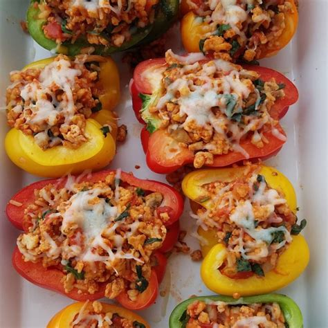 Simple Delicious Turkey Stuffed Peppers Clean Eating